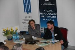 Sesja nr II, referat mgra Łukasza Faszczy, prowadzi prof. Agnieszka Zabłocka-Kos.