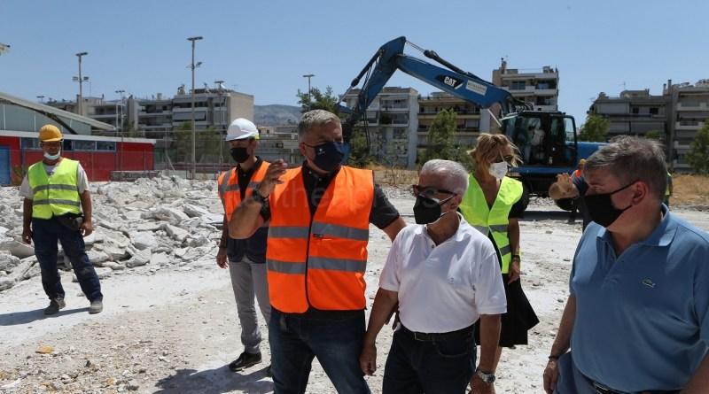 Εμβληματικά έργα υποδομών και αναπλάσεων στη Νέα Σμύρνη επισκέφθηκε ο Περιφερειάρχης Γ. Πατούλης