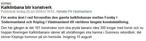 29 juli 2008 - SR P4 Västmanland