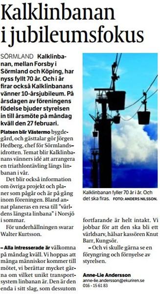 23 feb 2012 - Eskilstuna Kuriren
