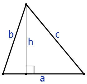 расчет площади треугольника