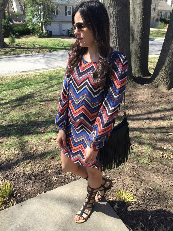 Chevron Dress | how to style gladiator sandals | spring fashion tips | spring and summer style ideas | warm weather fashion | print dress outfit