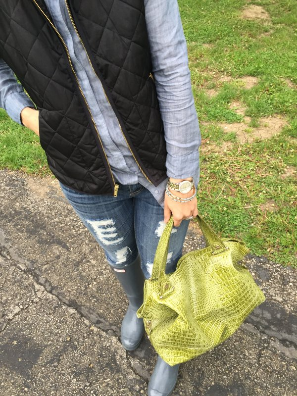 Rainy Day Outfit | how to hunter boots | spring fashion | spring style ideas | styling for spring and summer | warm weather fashion tips
