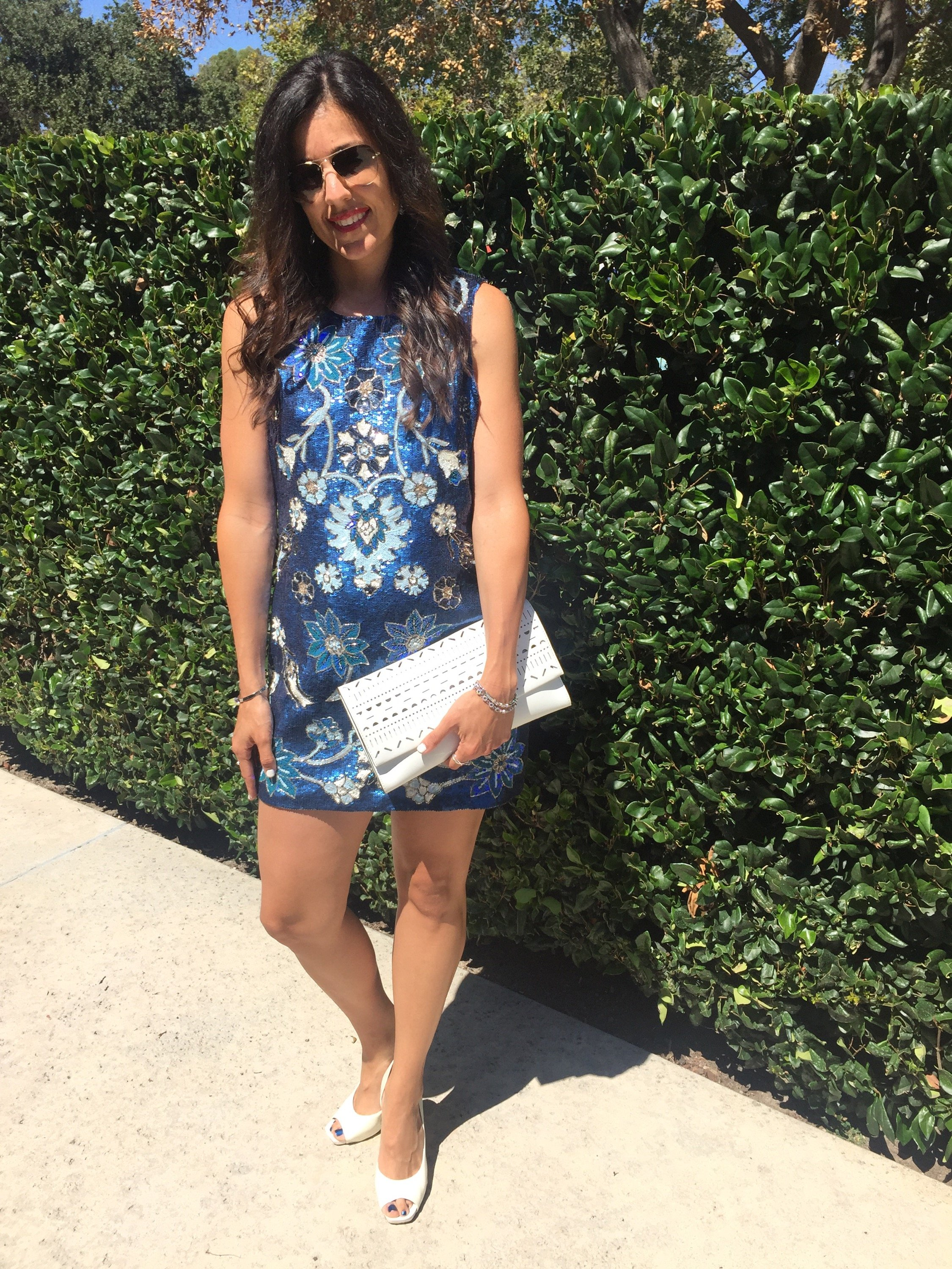 Wedding guest fashion | how to style a sequin dress | spring and summer fashion tips | warm weather fashion