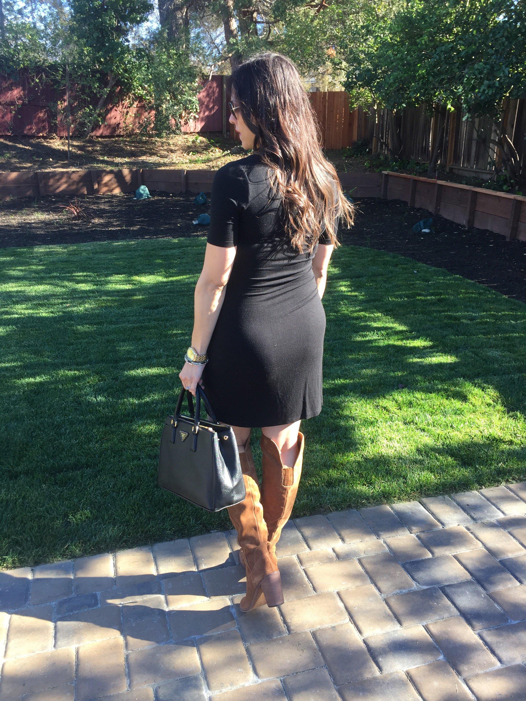 how to style the bump | maternity fashion | fall style | winter fashion | how to style OTK boots | cool weather fashion