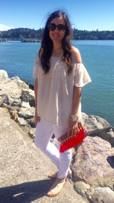 How to style an off the shoulder | spring and summer style ideas | spring fashion tips | warm weather fashion
