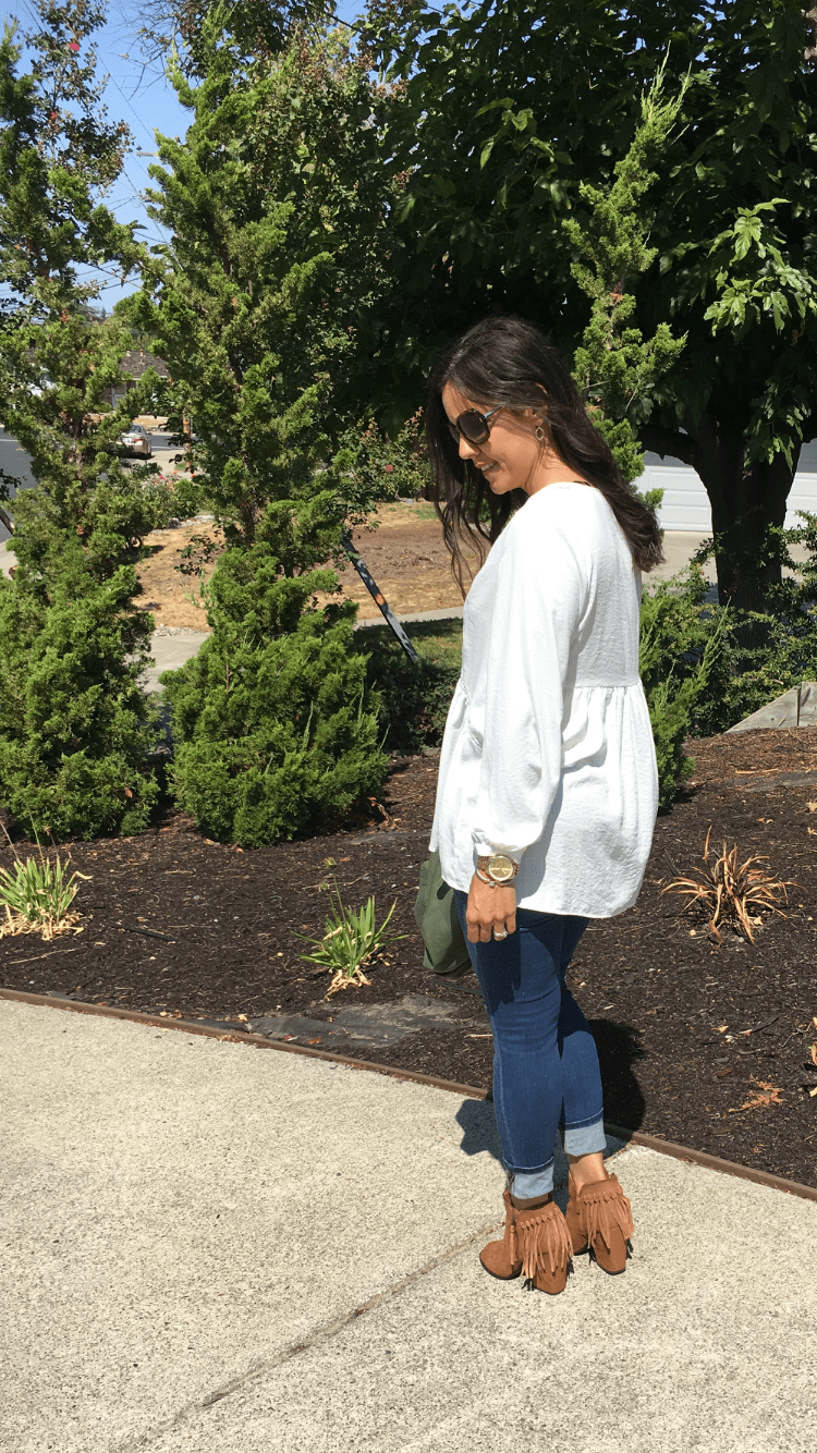 How to style a utility vest   fall and winter style ideas   fall fashion tips   cool weather fashion   booties