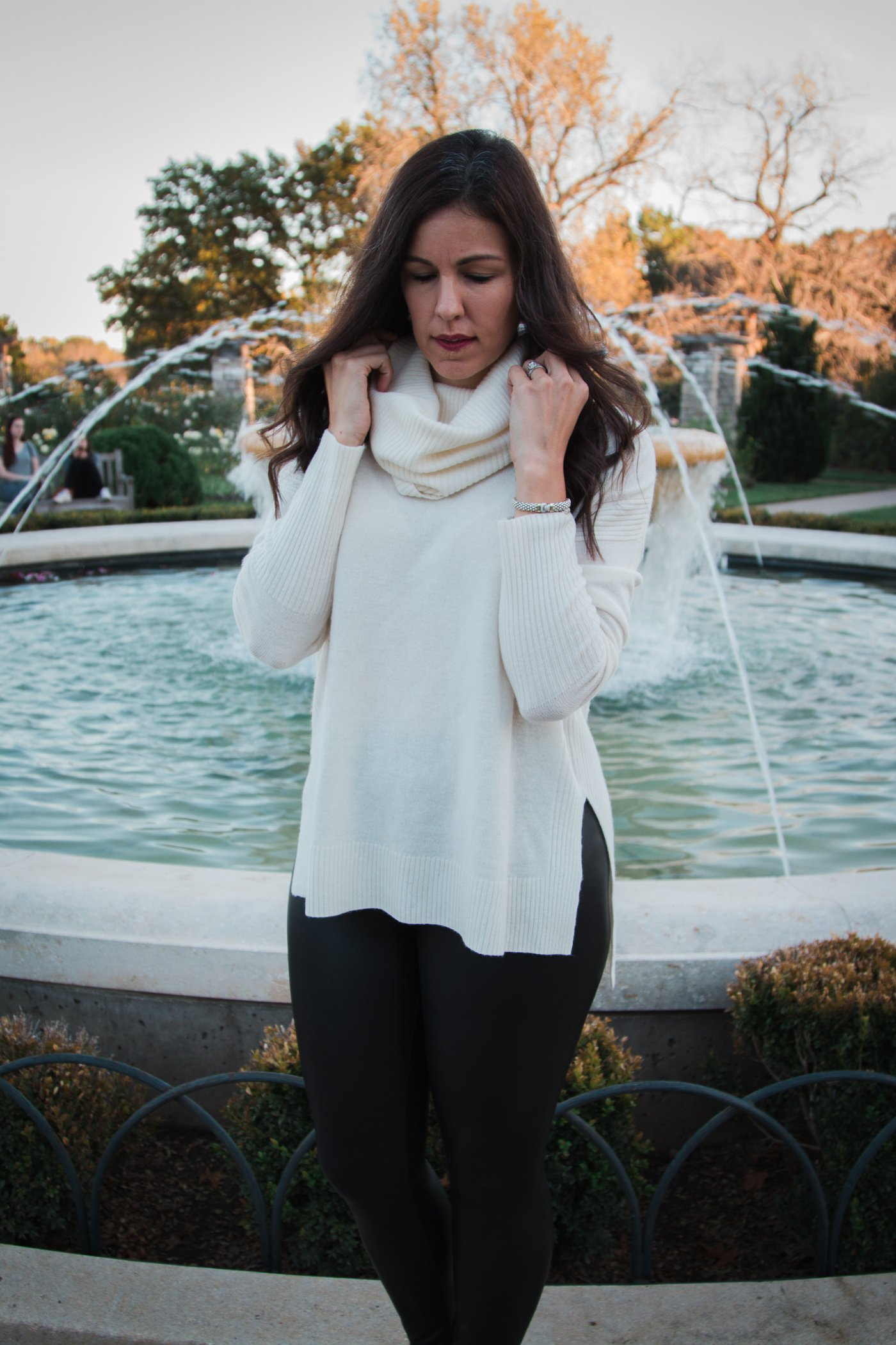 How to style cowl neck | fall and winter style | winter fashion | cold weather fashion | style block heels