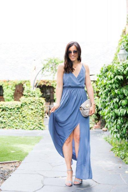 d1388e7903 Blue Maxi Dress x Tobi - the Flexman Flat