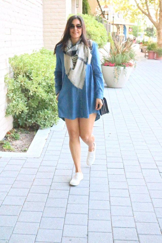Denim dress outfit ideas