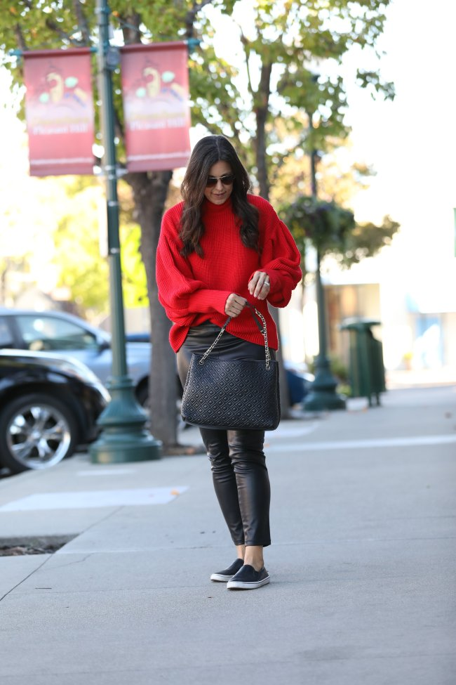 Tips for styling a red sweater