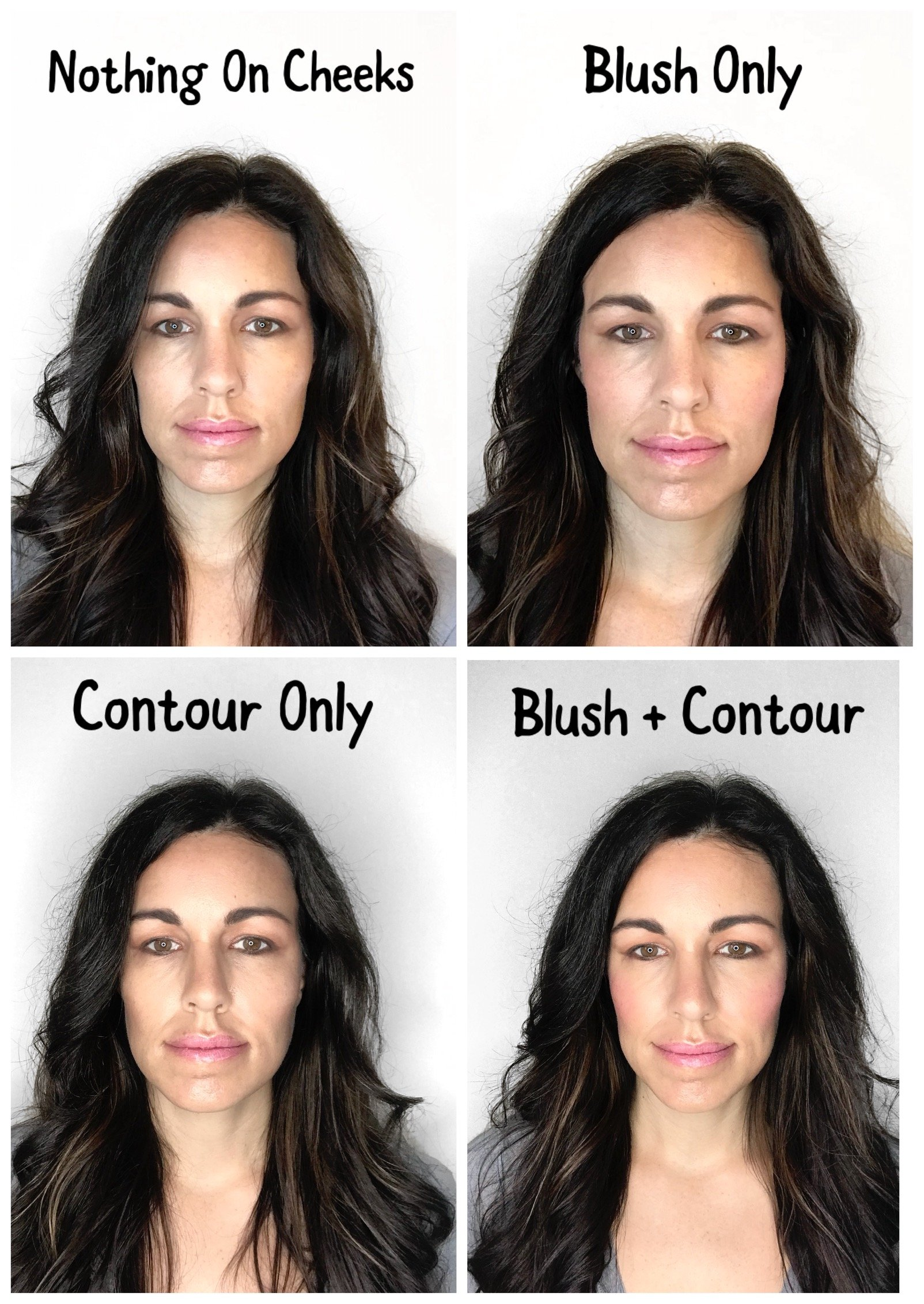 blush and contour
