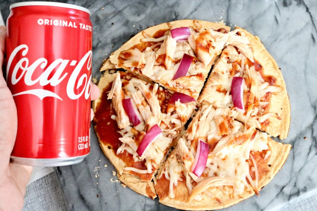 coca-cola bbq chicken pizza