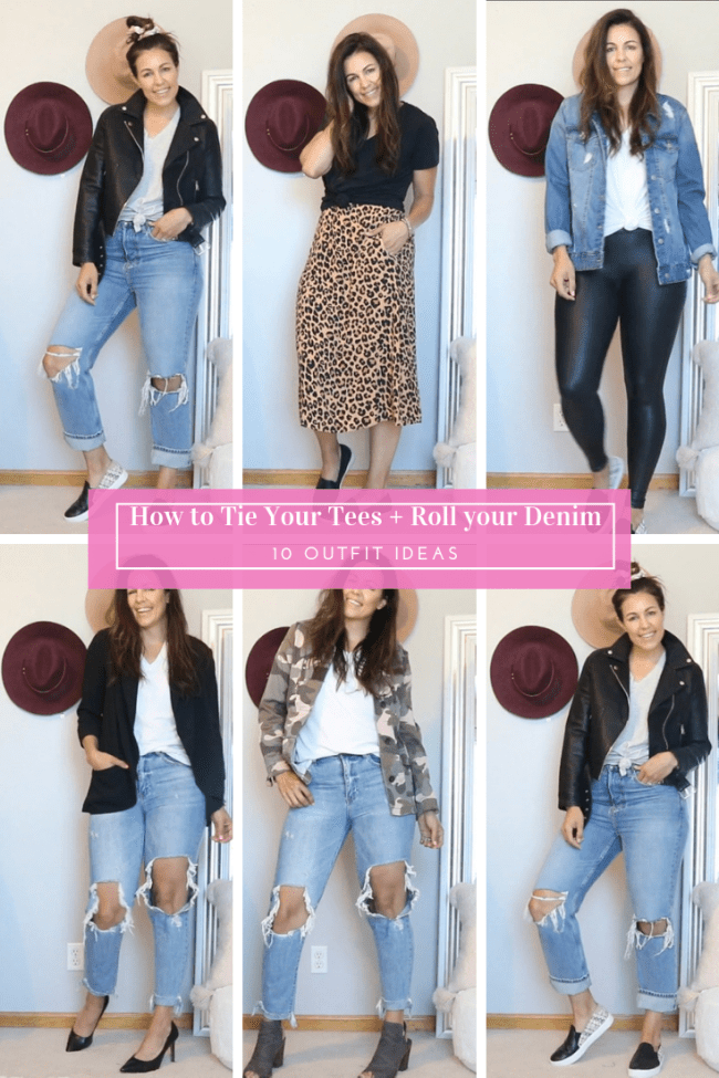 tie your tees and roll your denim