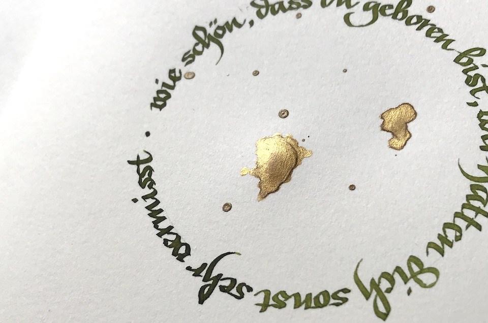 Geburtstagsgrüße – Schrift im Kreis