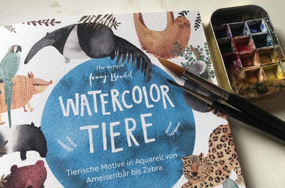 Buchbesprechung – Watercolor Tiere