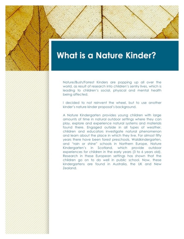Nature Kinder proposal-page3