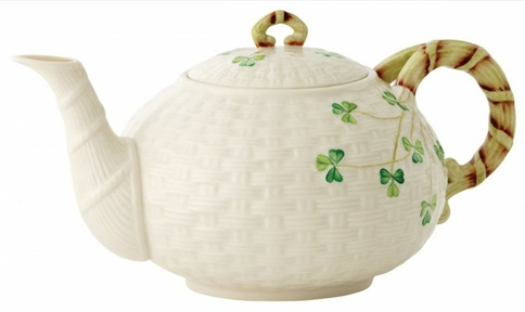 Belleek Shamrock Teapot