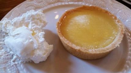 Belleek lemon tart on plate