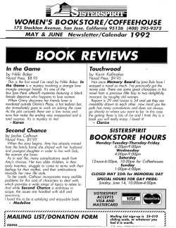 1992 Sisterspirit Bookstore review of Touchwood by Karin Kallmaker