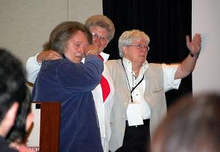 Photo, Ellen Hart, Katherine Forrest, Lee Lynch 2008