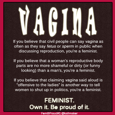 Feminists can say Vagina