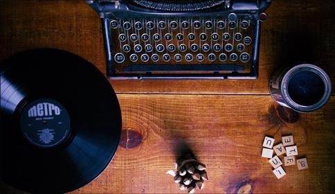 Typewriter-Vinyl-Scrabble-Paint-Music