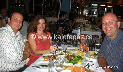 Myself dining with Kosta and Cheryl