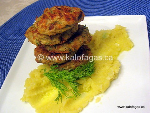Baked fish cakes kalofagas greek food beyond for Baked fish cakes