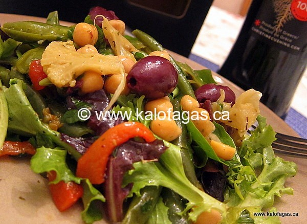 Chickpea Salad With Roasted Red Peppers & Green Beans ...