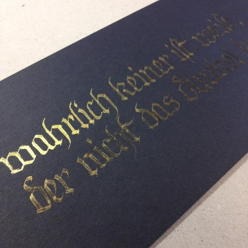 Calligraphy Gold on Black by Ka L-OK