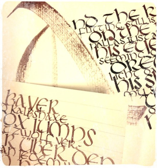 Calligraphy Exercise by Ka L-OK