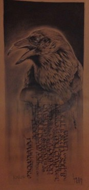 """Calligraphy """"Raven"""" – Collaboration with Guy Labo-O-Kult"""
