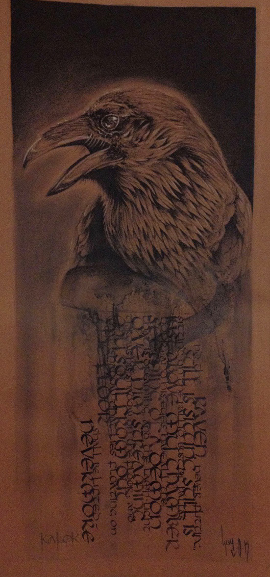 "Calligraphy ""Raven"" – Collaboration with Guy Labo-O-Kult"