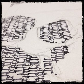 Calligraphy – Collaboration with Guy Labo-O-Kult