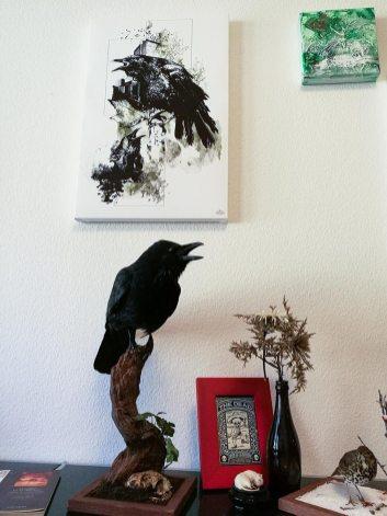 """Corvus Corvus"" – HelvEdition Mixed Media Illustration by Ka L-O-K"