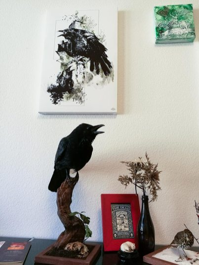 """Corvus Corvus"" – HelvEdition Mixed Media Illustration by Ka L-O-K"
