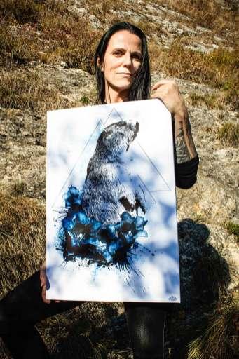 "Ka L-O-K with ""Marmota Marmota"" – HelvEdition Limited Edition Fine Art Canvas Print"