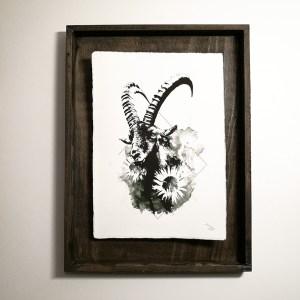 """Capra Ibex"" – HelvEdition by Ka L-O-K, Kunstdruck auf Büttenpapier"