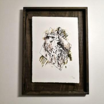 """Falco Cherrug"" – HelvEdition by Ka L-O-K, Kunstdruck auf Büttenpapier"