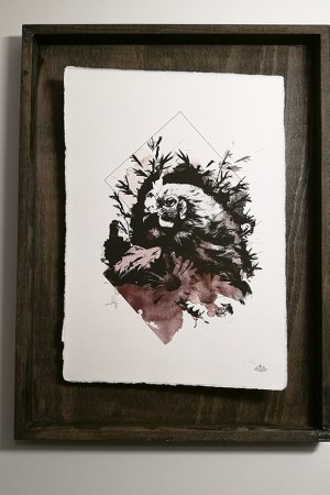 """Gallus Gallus"" – HelvEdition by Ka L-O-K | Special Edition, Fine Art Print sur laid paper"
