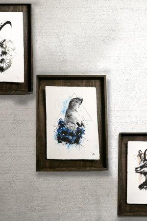 Bergkollektion HelvEdition  von Ka L-O-K, mit Steinbock, Murmeltier und Gämse, gedruckt auf Büttenpapier