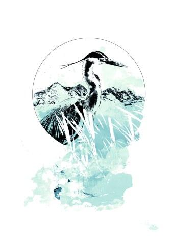 """Ardea Cinerea"" (Grey Heron) – HelvEdition by Ka L-O-K"