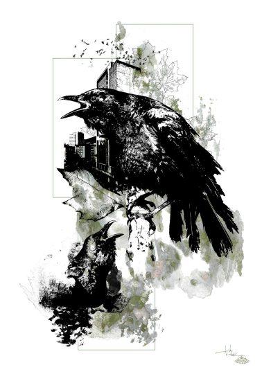 """Corvus Corvus"" (Les corneilles) – HelvEdition by Ka L-O-K"