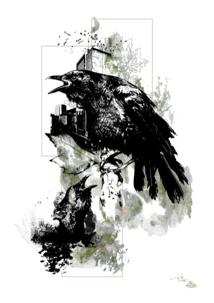 """Corvus Corvus"" (The Crows) – HelvEdition by Ka L-O-K"