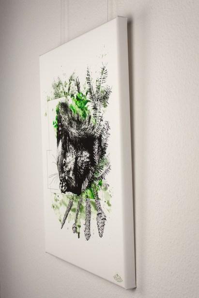 """Impression haute qualité sur toile -   Série limitée   HelvEdition """" Sciurus Vulgaris"""""""