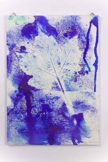 "Artwork on Canvas Board ""Folia Mystica"" - Maple Leaf | Ka L-O-K"