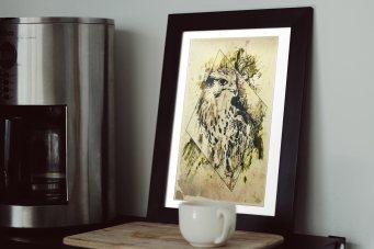 "Beispielbild, gerahmtes Bild ""Falco Cherrug"", HelvEdition bei Ka L-O-K"