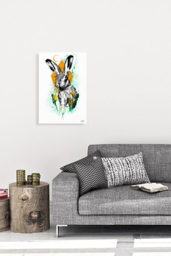 """Mock Up """"Lepus europaeus"""" (The Hare) with the Illustration from the art series HelvEdition by Ka L-O-K   Graphic Arts"""