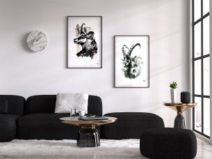 """Mock Up / Modèle avec les illustrations – """"Le Chamois"""" et """"Le Bouquetin"""" de la série HelvEdition par Ka L-O-K   Graphic Arts"""